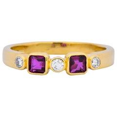 Chaumet Paris Ruby Diamond 18 Karat Gold Stacking Ring