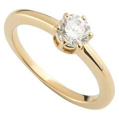 Chaumet Round Brilliant Cut Diamond Engagement Ring .44 Carat