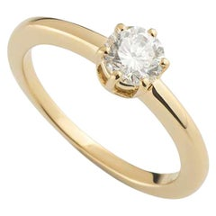 Chaumet Round Brilliant Cut Diamond Engagement Ring