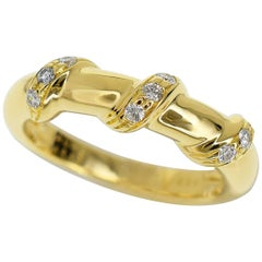 Chaumet Torsade Diamond 18 Karat Yellow Gold Ring US 5.5