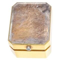 Chaumet Vintage Rock Crystal Diamond Gold Box