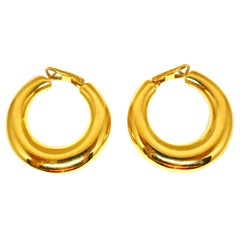 Chaumet Vintage Yellow Gold Hoops Earrings