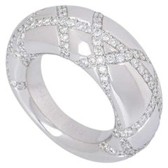 Chaumet White Gold Diamond Dress Band Dome Ring