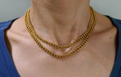 Chaumet Yellow Gold Link Chain Necklace, 1970s French