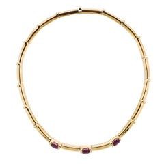 Chaumet Yellow Gold Pink Tourmaline Necklace