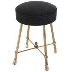 Chayne Stool in Antique Brass Finish