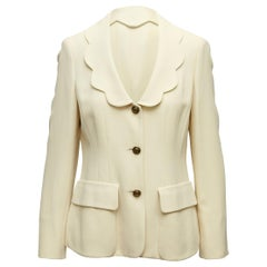 Cheap and Chic By Moschino Cream Scalloped Jacket