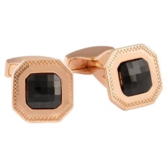 Tateossian Checkboard Cufflinks in Rose Gold 'Limited Edition 30 Pair'