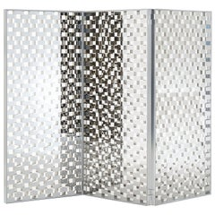 Checked Glass Screen with a Special Checked Decoration by Nendo for Glas Italia