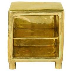 Cheer Bedside Table in Brass by Scarlet Splendour