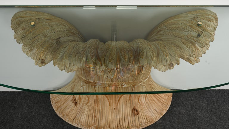 Chelini Hand Carved Wheat Sheaf Console, 20th Century For Sale 3