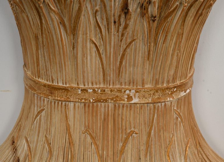 Italian Chelini Hand Carved Wheat Sheaf Console, 20th Century For Sale