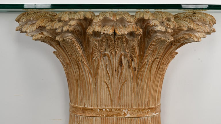 Chelini Hand Carved Wheat Sheaf Console, 20th Century In Good Condition For Sale In Hamburg, PA