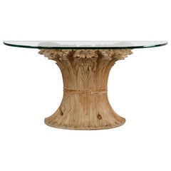Chelini Hand Carved Wheat Sheaf Console, 20th Century