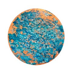 Calella - 21st Century, Contemporary, Abstract Painting, Copper Leaf, Steel