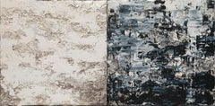 Horizon in Silver Steel - 21st Century, Contemporary, Abstract Painting, Silver