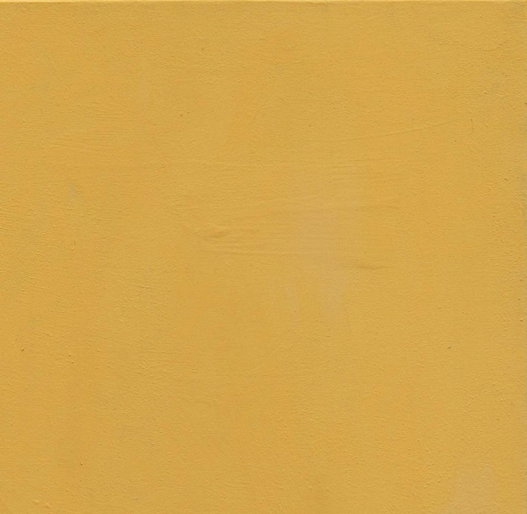 Impar With Yellow - 21st Century, Contemporary, Abstract Painting, Gold Leaf For Sale 4