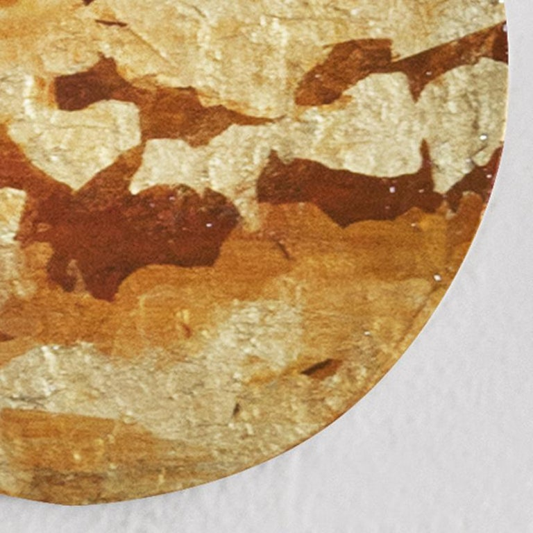Punto de Luz 15 - 21st Century, Contemporary, Abstract Painting, Gold Leaf For Sale 2