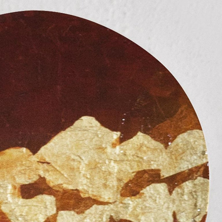 Punto de Luz 15 - 21st Century, Contemporary, Abstract Painting, Gold Leaf For Sale 3