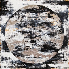 Snow Moon - 21st Century, Contemporary, Abstract Painting, Gold Leaf