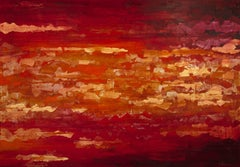 Summer Evening - 21st Century, Contemporary, Abstract Painting, Gold Leaf