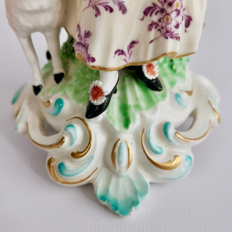 Chelsea-Derby Porcelain Figure of Lady with Lute, 18th Century, circa 1770 For Sale 11