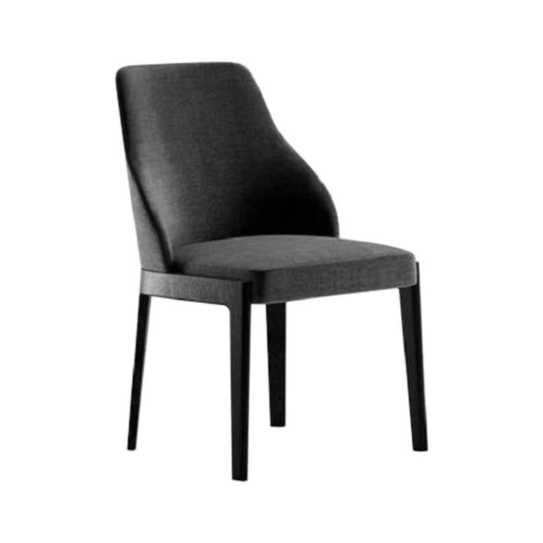 Molteni&C Chelsea Chair Rodolfo Dordoni Design Dark Grey Fabrics