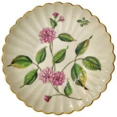 Chelsea Porcelain 'Botanical' Saucer, c. 1760