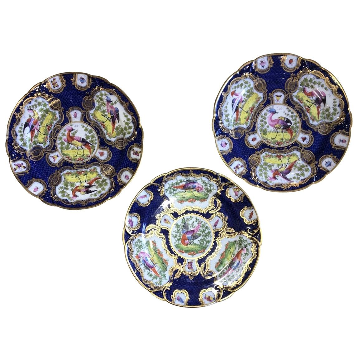 Chelsea Porcelain Cabinet Plates, Mid-18th Century