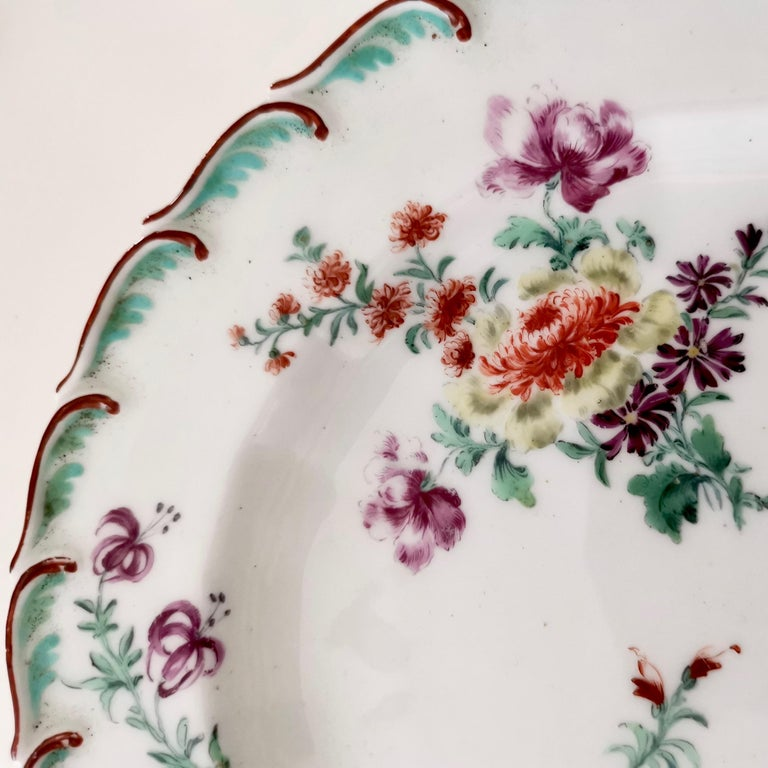 This is a beautiful plate made by Chelsea in circa 1755, which is known as the