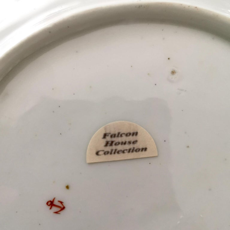 Chelsea Porcelain Plate, Hand Painted Flowers, Red Anchor, 18th Century For Sale 1