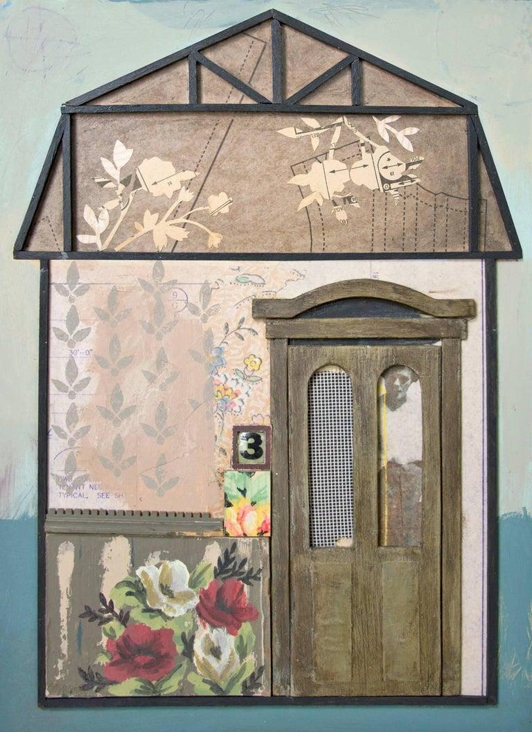 """""""Mrs. Russell"""", Chelsea Revelle, mixed media, assemblage, house - Mixed Media Art by Chelsea Revelle"""