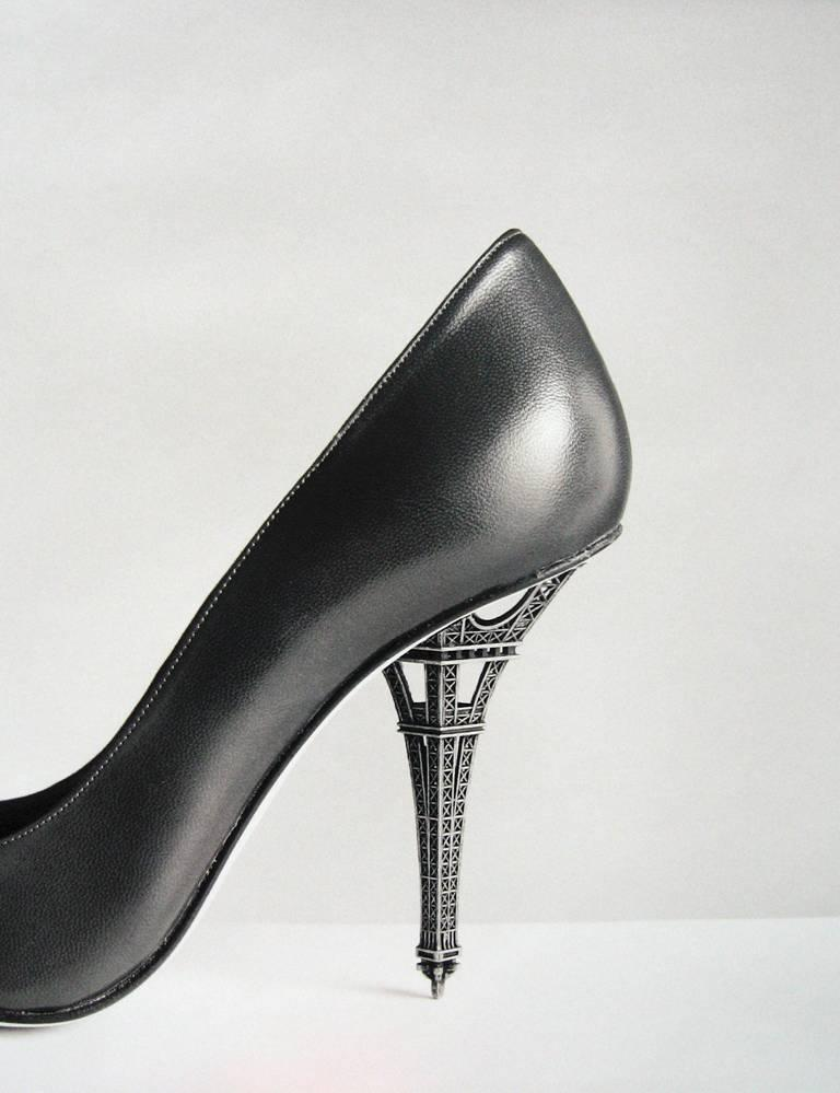 Untitled - (High heel shoe with Eiffel Tower)