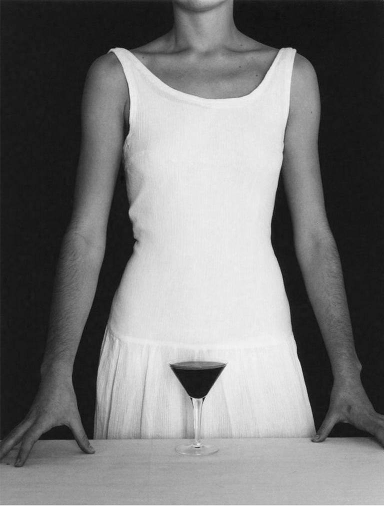 Chema Madoz Black and White Photograph - Untitled - (White Dress and Wine)