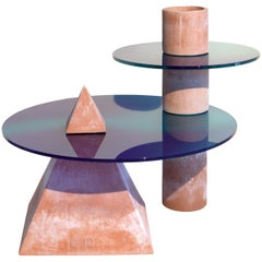 Cheope, Handmade Coffee Table in Terracotta