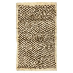 "Chequered ""Tulu"" Rug Made of Natural Undyed Wool"