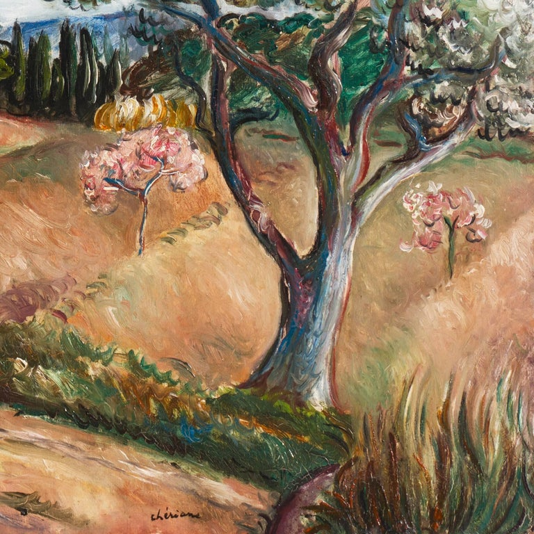 Early French Post-Impressionist oil 'Harvest in Provence' Paris, Salon d'Automne For Sale 1