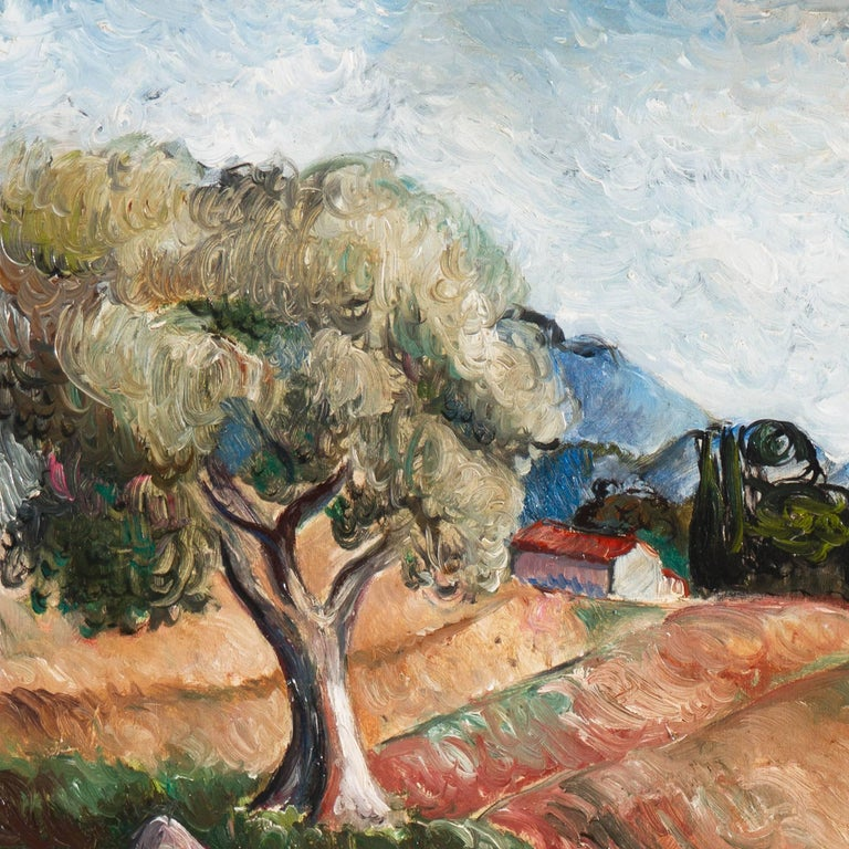 Early French Post-Impressionist oil 'Harvest in Provence' Paris, Salon d'Automne For Sale 4