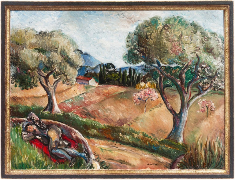 Early French Post-Impressionist oil 'Harvest in Provence' Paris, Salon d'Automne For Sale 7