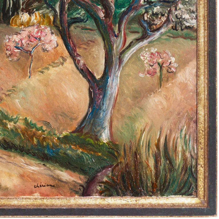 Early French Post-Impressionist oil 'Harvest in Provence' Paris, Salon d'Automne For Sale 8