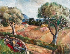 Landscape in Provence   (French, Paris, Post-Impressionist, Woman Artist)