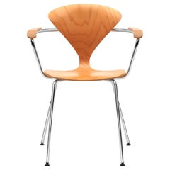 Cherner Armchair with Metal Base