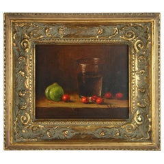 Cherries Still Life Table Scape Painting
