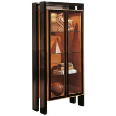 Cherry and Ebony 2-Door Cabinet