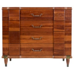 Cherry Bachelors Chest by Hickory MFG with Brass Bullet Shaped Handles