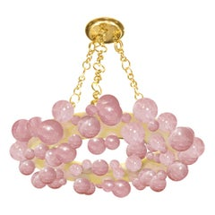 Cherry Blooms Bubble Ring Rock Crystal Chandelier by Phoenix