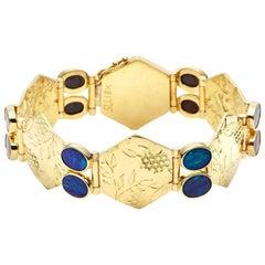 Susan Lister Locke 18kt Gold Cherry Blossom Link Bracelet with Australian Opals