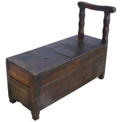 Cherry Country Seat with Salt Box Slide