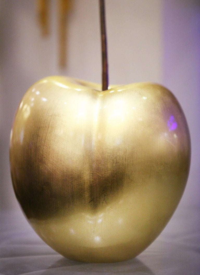 Cherry Gold Large Sculpture in Ceramic In Excellent Condition For Sale In Paris, FR