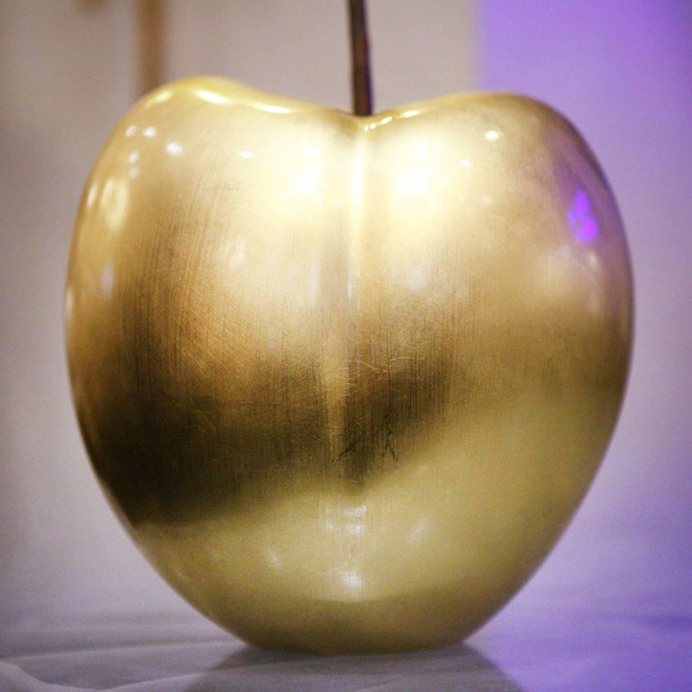 Contemporary Cherry Gold Large Sculpture in Ceramic For Sale